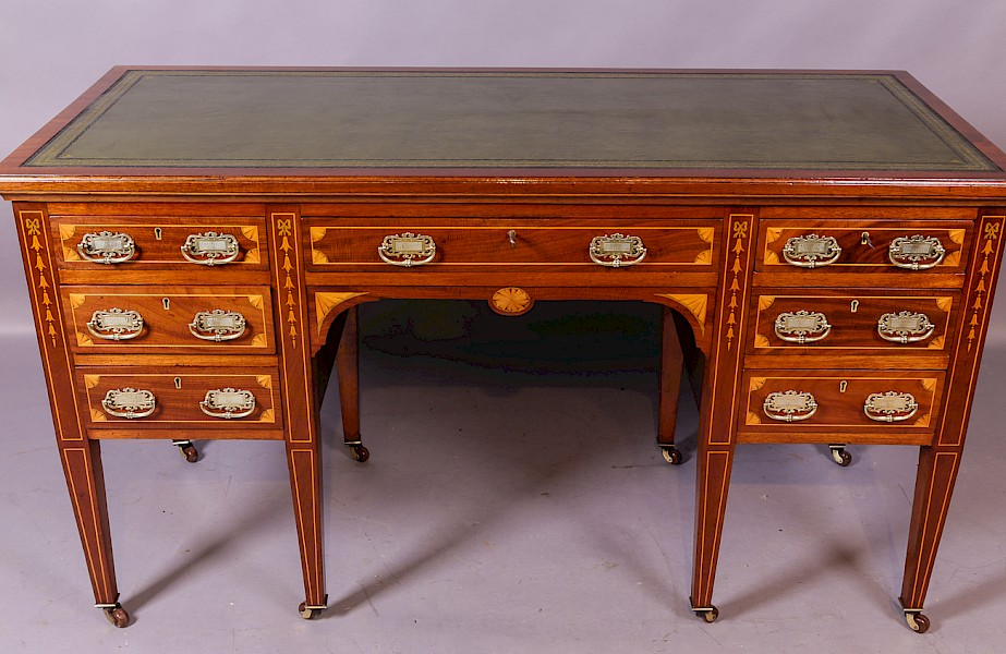 An Attractive Late Victorian Inlaid Writing Desk