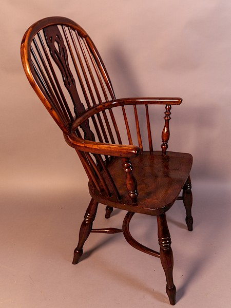 Rare Yew Wood Windsor Chair by J Spencer