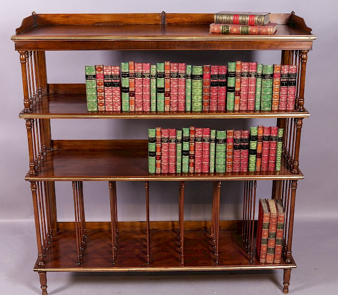 Victorian Open Bookcase in Mahogany