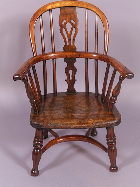 Childs Yew Wood Windsor Chair