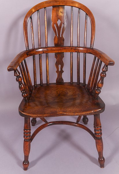 Rare Middle Size Yew Windsor Chair Rockley