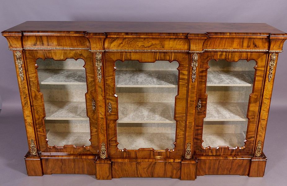 Victorian Burr Walnut Credenza fully restored