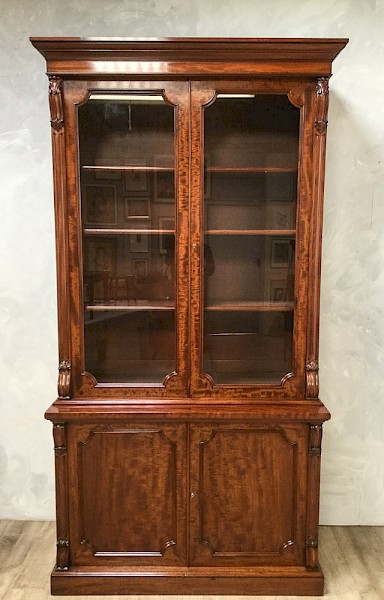 Quality Victorian Library Bookcase c 1850