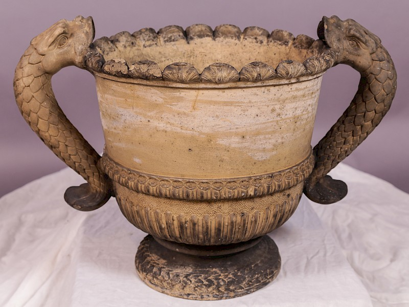 An interesting 19th century Urn with fish mounts
