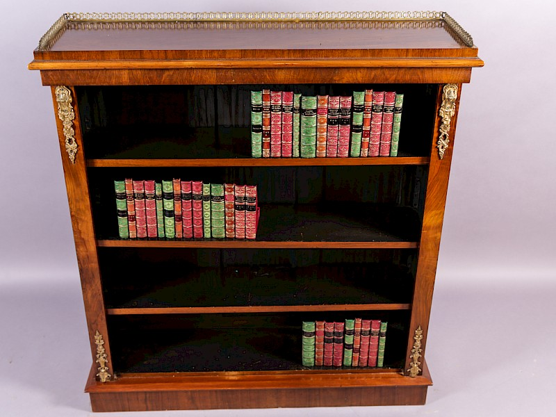 Victorian Open Bookcase in Walnut