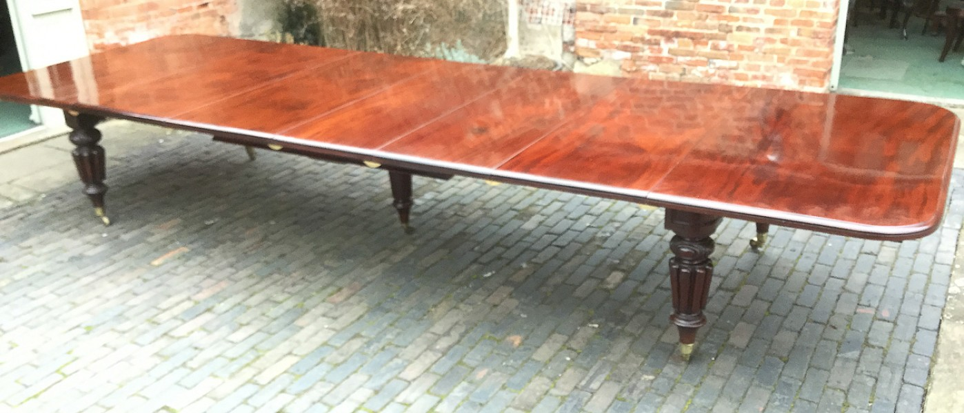 15 foot long Victorian Mahogany Extending table seats 20