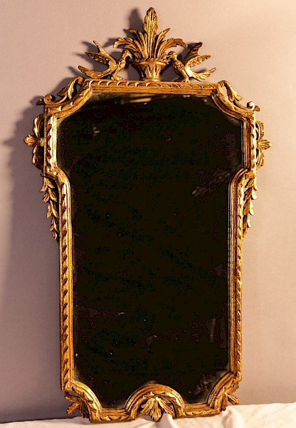 A late 19th century Gilded Mirror
