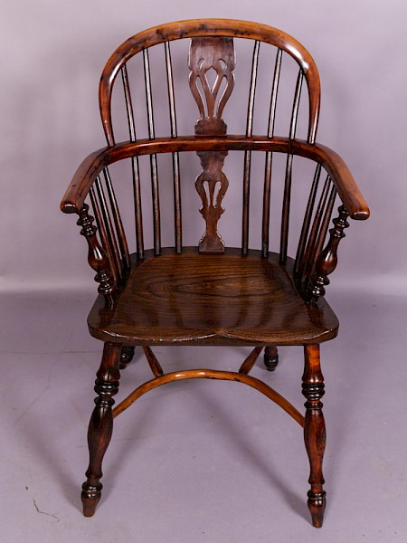 Yew Wood Windsor Chair possibly Lincolnshire