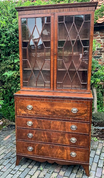 A George III Secretaire Bookcase