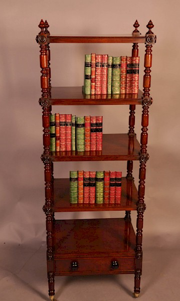 A Victorian 5 height display bookcase