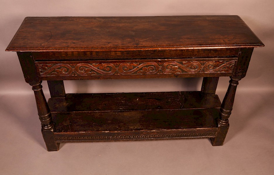 A 17th Century Serving Side Table Oak