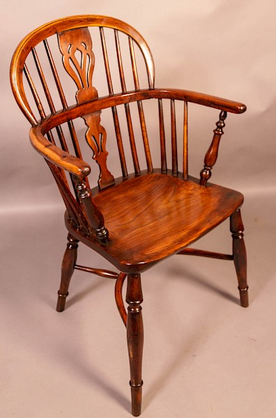 Yew Wood Low Windsor Chair Rockley Workshop