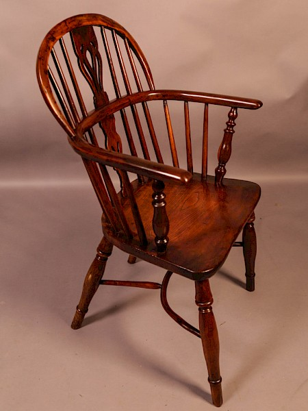 Yew Wood Windsor Chair Stamped Nicholson Rockley