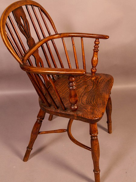An Ash and Elm Windsor Chair Rockley Workshop