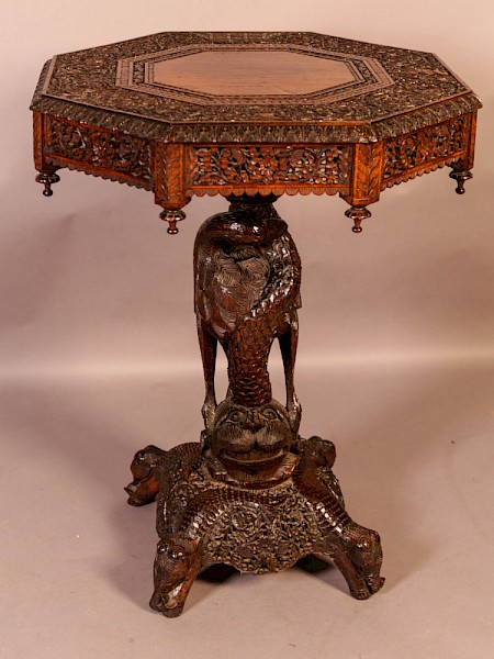 Good Indian Carved Table