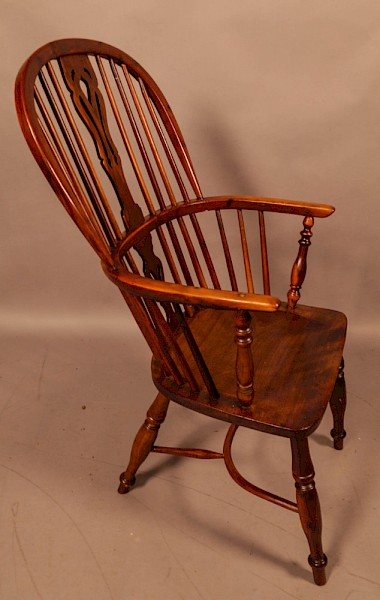 A Yew Wood High Windsor Chair Rockley Maker