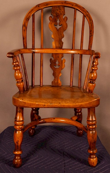 A Rare Childs Windsor Chair in Yew Wood