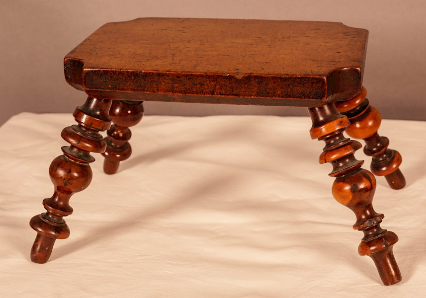 A Yew Wood Stool Victorian