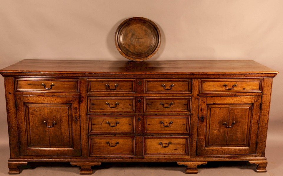 Superb Georgian Oak Serving Dresser Large