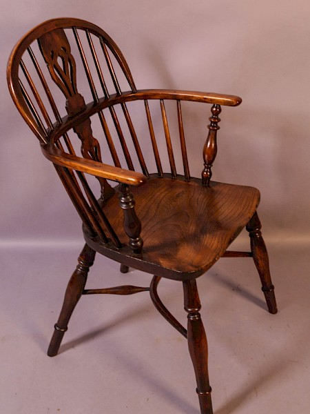 A Yew Wood Windsor Chair Rockley Maker